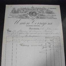 Factures anciennes: FACTURA DE MONDRAGON GUIPUZCOA FABRICA DE CERRAJERIA FUNDICION HIERRO ARRECHAVALETA VERGARA 1914. Lote 162779026