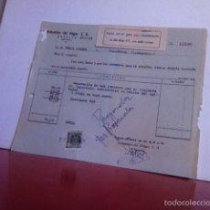 Facturas antiguas: FACTURA- INDUSTRIAS DEL HOGAR - ESTELLA( NAVARRA) 1961 SELLO 15 CT. Lote 163487697