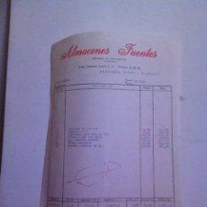 Facturas antiguas: FACTURA - ALMACENES FUENTES- DROGAS AL POR MAYOR. ZARAGOZA 1978. Lote 163490313