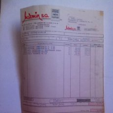 Facturas antiguas: FACTURA- JAZMÍN- JUGUETERÍA. ZARAGOZA 1978. Lote 163490514