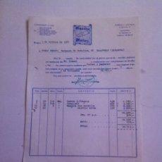 Facturas antiguas: FACTURA- GUANTES MUÑOZ- BURGOS 1977. Lote 163493434