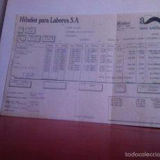 Facturas antiguas: FACTURA- LANAS ARDILLA- TARRASA 1978. Lote 163493925