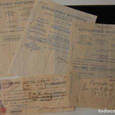 Facturas antiguas: FACTURA FARMACIA LABORATORIOS MONTESFER + PAGARÉ AÑO 1935. Lote 164000570