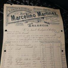 Facturas antiguas: MARCELINO MARTIN. VALENCIA 1918 JUGUETES Y BISUTERIA. Lote 165292936