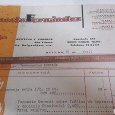Fatture antiche: OVIEDO ERNESTO FERNÁNDEZ RODAPIN RODILLOS PLUMAIGA..GALA..DIANA 1968. Lote 165383969