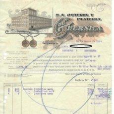 Facturas antiguas: FACTURA 1934 / S.A. JOYERÍA Y PLATERÍA DE GUERNICA. Lote 165986378