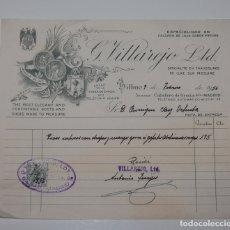 Facturas antiguas: FACTURA CALZADO DE LUJO G. VILLAREJO MADRID AÑOS 50. Lote 167732940