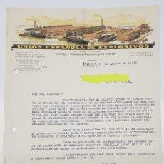 Facturas antiguas: FACTURA UNION ESPAÑOLA DE EXPLOSIVOS BILBAO 1949 - TDKP14. Lote 168616652