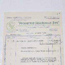 Facturas antiguas: FACTURA PRODUTOS HORTICOLAS FITO . BARCELONA 1954 - TDKP14. Lote 168780580