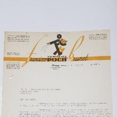 Facturas antiguas: FACTURA SEMILLAS POCHBRUNET .MONGAY,LERIDA 1949 TDKP14. Lote 168787516