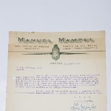 Facturas antiguas: FACTURA SEMILLAS MANUEL MAMPEL VENTA AL POR MAYOR 1949. ZARAGOZA,TDKP14. Lote 168787828