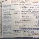Facturas antiguas: DOCUMENTOS. ALFARA DEL PATRIARCA (VALENCIA) RECIBOS SEGURO AGRÍCOLA MAPFRE (A.1949). Lote 169018544