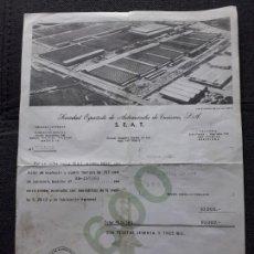 Factures anciennes: FACTURA DE COMPRA DE SEAT 600. AÑO 1969.. Lote 172094150