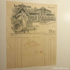 Facturas antiguas: RECIBO DE LA HONRADEZ, FÁBRICA DE SOBRES , LIBROS RAYADOS. R. FERRER .BARCELONA FEBRERO 1906. Lote 172660383