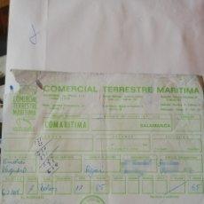 Facturas antiguas: FACTURA COMERCIAL TERRESTRE MARÍTIMA BÉJAR GUIJUELO PEÑARANDA CIUDAD RODRIGO. Lote 174980463