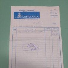 Facturas antiguas: FACTURA LA VALENCIANA. ALMERÍA 1974. Lote 175667350