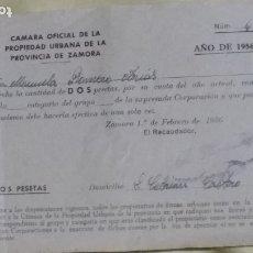 Facturas antiguas: RECIBO DE LA CAMARA DE LA PROPIEDAD. Lote 176068455