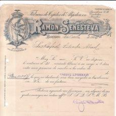 Facturas antiguas: BARCELONA 1926 - RAMÓN SENESTEVA - 10 FACTURAS / CARTAS - FÁBRICAS TEJIDOS DE ALGODON. Lote 177415518