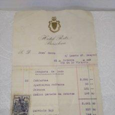 Facturas antiguas: ANTIGUA FACTURA DEL HOTEL RITZ DE BARCELONA - AÑO 1939 - CON SELLO REPUBLICANO - REF: 490/500. Lote 178355232