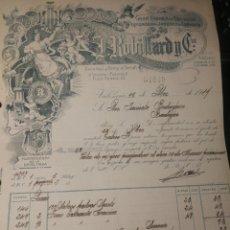 Facturas antiguas: J. RUBILLARO Y CIA. ESENCIAS Y PERFUMES. VALENCIA 1919. Lote 178381380