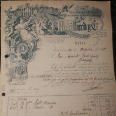 Facturas antiguas: J. ROBILLARO Y CIA. ESENCIAS Y PERFUMES. VALENCIA 1919.. Lote 178381542