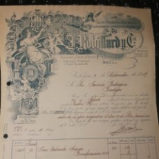 Facturas antiguas: J. RUBILLARO Y CIA. ESENCIAS Y PERFUMES. VALENCIA 1919. Lote 178381796