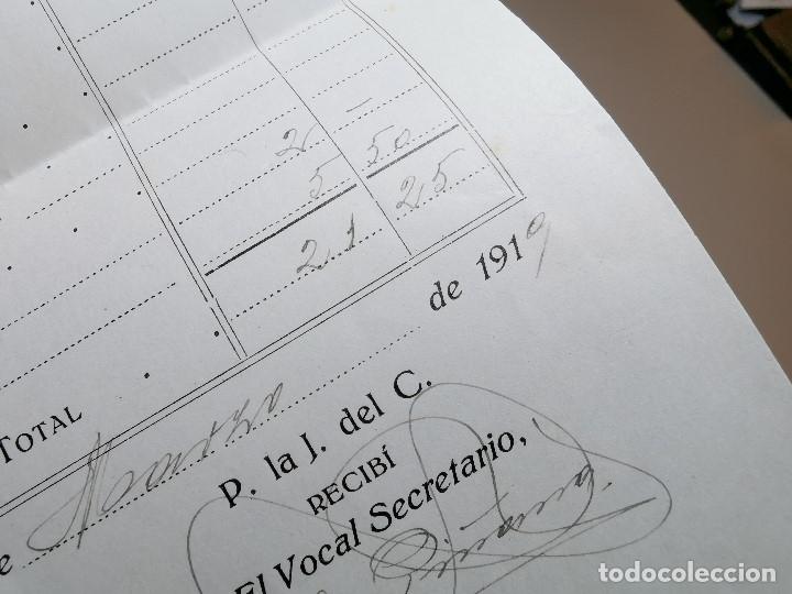 Facturas antiguas: FACTURA SERVICIOS-FUNERARIA-FUNERARIO-CEMENTERIO-SEPELIO-FUNERAL VILAFRANCA PENEDES 1919 - Foto 5 - 178858858