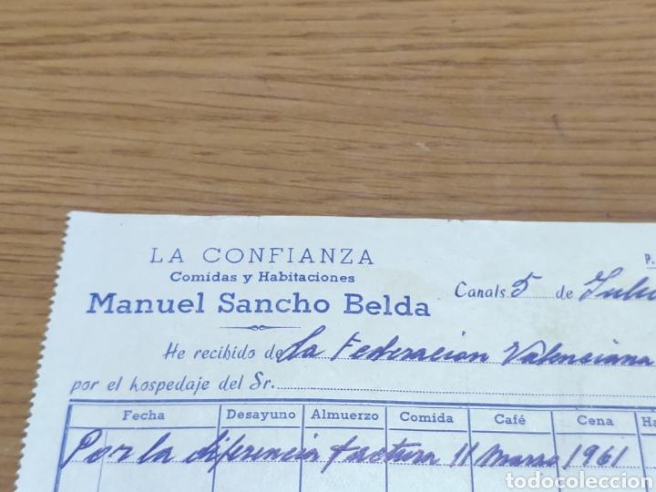Facturas antiguas: Factura 1962 de la federación valenciana de ciclismo Manuel Sancho belda - Foto 2 - 179090107
