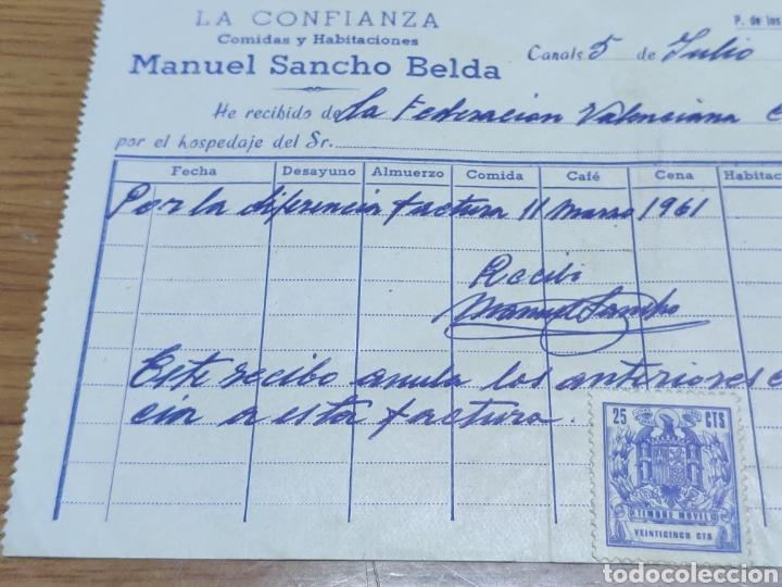 Facturas antiguas: Factura 1962 de la federación valenciana de ciclismo Manuel Sancho belda - Foto 3 - 179090107
