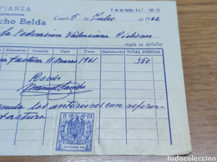 Facturas antiguas: Factura 1962 de la federación valenciana de ciclismo Manuel Sancho belda - Foto 4 - 179090107