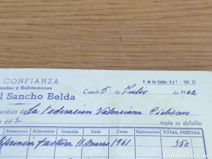 FACTURA 1962 DE LA FEDERACIÓN VALENCIANA DE CICLISMO MANUEL SANCHO BELDA (Coleccionismo - Documentos - Facturas Antiguas)