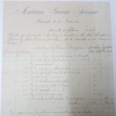 Facturas antiguas: FACTURA 1907 PROCURADOR DE LOS TRIBUNALES DE MURCIA MARIANO GARCIA. Lote 179107582