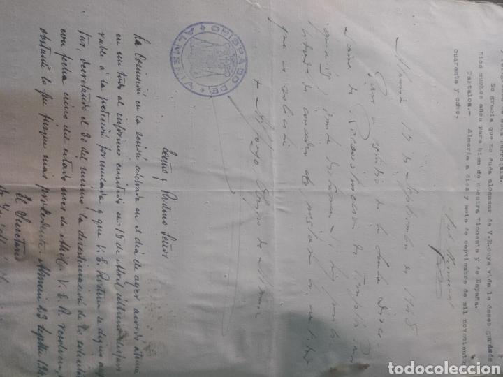 Facturas antiguas: presupuesto para realizar obras en la parroquia San Antonio de Padua , Partaloa Almería 1948 - Foto 2 - 180029511
