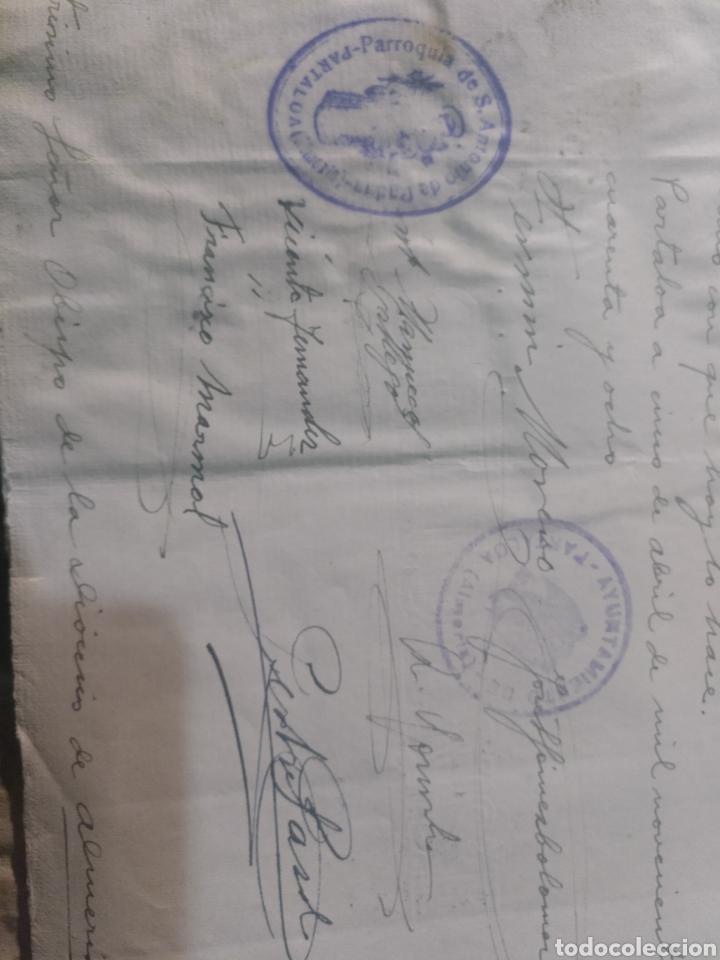 Facturas antiguas: presupuesto para realizar obras en la parroquia San Antonio de Padua , Partaloa Almería 1948 - Foto 5 - 180029511