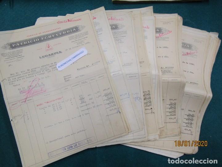 LOTE 51 FACTURAS DE PATRICIO ECHEVERRIA - LEGAZPIA GUIPUZCOA, AÑO 1935 HERRAMIENTAS BELLOTA + INFO (Coleccionismo - Documentos - Facturas Antiguas)