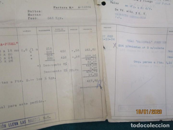 Facturas antiguas: LOTE 51 FACTURAS DE PATRICIO ECHEVERRIA - LEGAZPIA GUIPUZCOA, AÑO 1935 HERRAMIENTAS BELLOTA + INFO - Foto 2 - 180125918