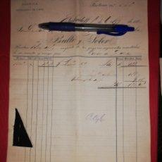 Facturas antiguas: 1886 FABRICA NOVEDADES LANS BULLO Y SOLER SABADELL. Lote 180237712