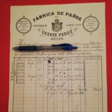 Facturas antiguas: 1886 HIJOS DE CELESTINO LAZARO BEJAR. Lote 180237422