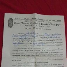 Facturas antiguas: RARA FACTURA CONSTRUCTOR DE TINAJAS DE CEMENTO VALDEPEÑAS AÑOS 60. Lote 180288512