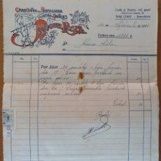 Facturas antiguas: FACTURA GRAN CENTRO DE PROPAGANDA FIJACION CARTELES MIGUEL ROSELL BARCELONA 1946. Lote 181726360
