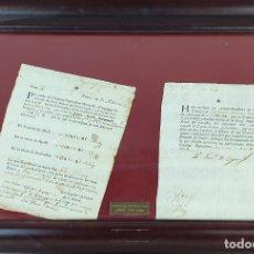 Facturas antiguas: PAREJA DE DOCUMENTOS DE PAGO DE IMPUESTOS. PAPEL IMPRESO Y MANUSCRITO. 1718-1788.. Lote 182257242