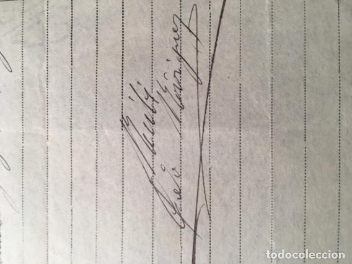 Facturas antiguas: ANTIGUA FACTURA 1922 MODAS PEDRO RODRIGUEZ C. CONSEJO DE CIENTO 332 - 27X21 CM. FIRMADA POR EL - Foto 2 - 183176731