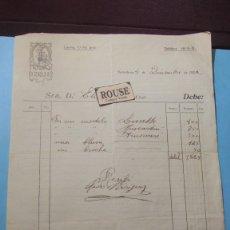 Facturas antiguas: ANTIGUA FACTURA 1922 MODAS PEDRO RODRIGUEZ C. LAURIA 77-79 - 27X21 CM. FIRMADA POR EL MODISTO. Lote 183176962