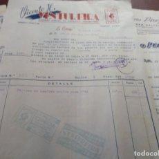 Facturas antiguas: VENTUREIRA AZAFRANES Y OTROS A CORUÑA 1958. Lote 190514936