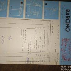 Facturas antiguas: FACTURA PARASOLES BARCINO 1972. Lote 190935253