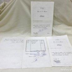 Facturas antiguas: LOTE 3 FACTURAS PRESUPUESTO DENTISTA 1976 DOCTOR LUIS DE LA MACORRA MADRID . Lote 192311562
