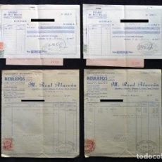 Facturas antiguas: LOTE FACTURAS, ALBARANES Y RECIBOS, AZULEJOS SANEAMIENTO, M. REAL ALARCÓN. NAQUERA, 1957. Lote 192413585