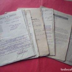 Facturas antiguas: FACTURAS.-CARTAS COMERCIALES.-GRAN LOTE DE 40 FACTURAS DE ESPAÑA.-DESDE EL AÑO 1923 HASTA 1950.. Lote 192727485