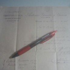 Facturas antiguas: TALLERES DE EBANISTERÍA Y TALLA / DEPÓSITO DE MOLDURAS - ANTONIO GARCÍA Y GARCÍA - CÓRDOBA - 1916. Lote 192828873