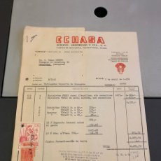 Facturas antiguas: FACTURA. FABRICA DE BICICLETAS Y ARMAS. ECHASA( ÉIBAR ) 1959. + 3 LETRAS. Lote 194138267